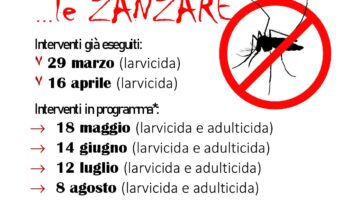 PROGRAMMA DEGLI INTERVENTI DI DISINFESTAZIONE CONTRO LE ZANZARE