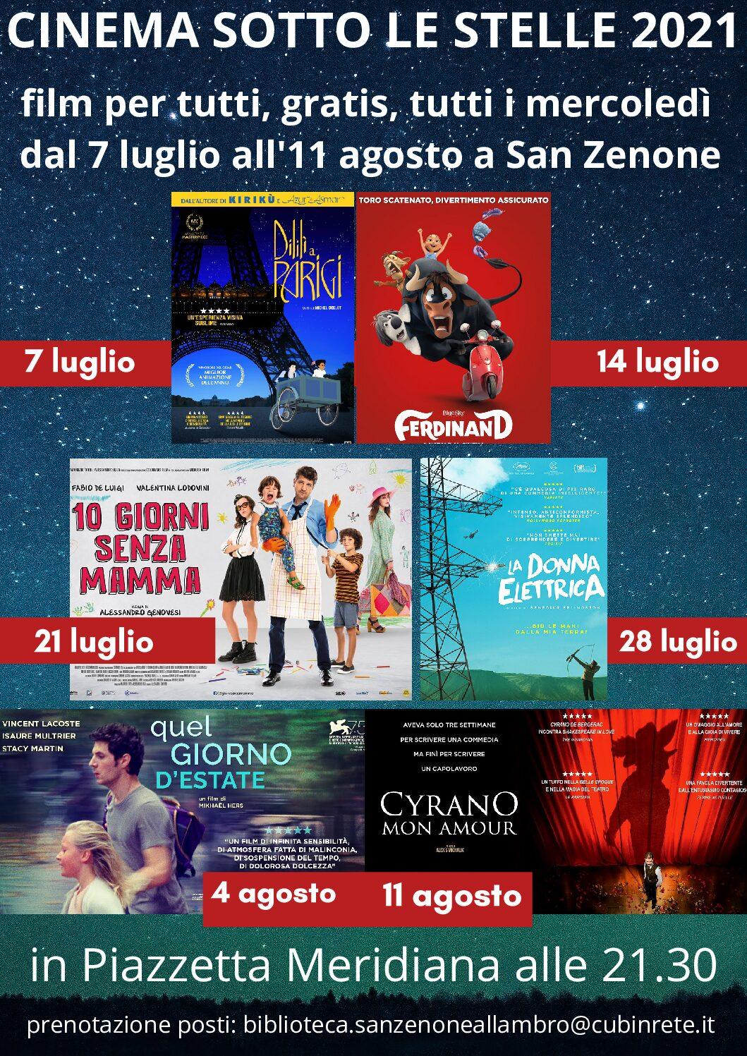 locandina cinema 2021