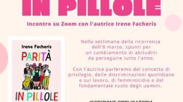 """Festa della Donna: incontro con l'autrice del libro """"Parità in pillole"""""""
